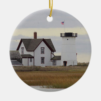 Stage Harbor Lighthouse Ceramic Ornament