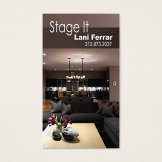 """Stage It"" Home Stager, Interior Designer Real Est Business Card"