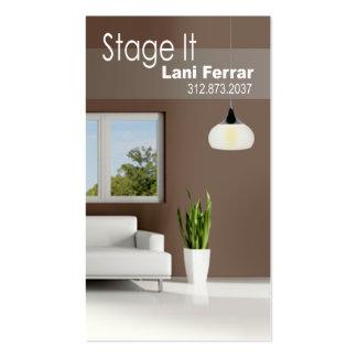 """Stage It"" Home Stager, Interior Designer, Realtor Business Card"