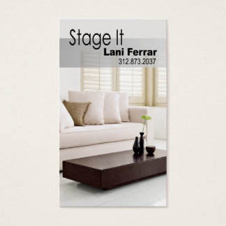 """Stage It"" Home Stager, Interior Designer, Realtor Business Card"