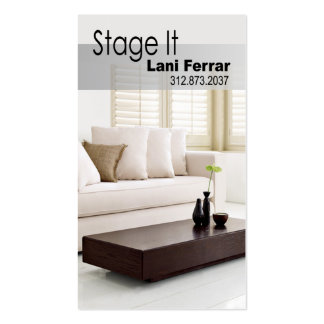 """""""Stage It"""" Home Stager, Interior Designer, Realtor Business Card Templates"""