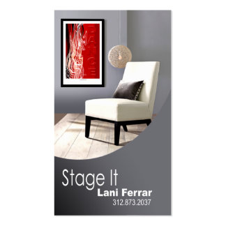 """""""Stage It"""" Home Stager, Interior Designer, Realtor Double-Sided Standard Business Cards (Pack Of 100)"""