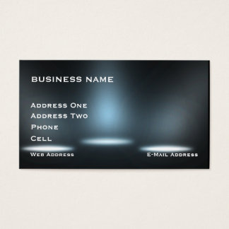 Stage lighting- Music Business Card