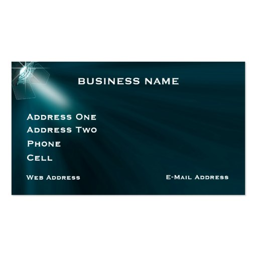 Stage lighting Music Business Card