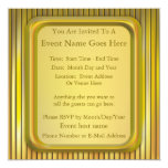 Stage Lights 5.25x5.25 Square Paper Invitation Card
