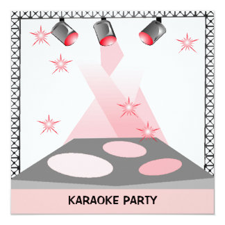 STAGE LIGHTS INVITATION KARAOKE TALENT SHOW PARTY