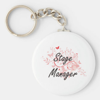 Stage Manager Artistic Job Design with Butterflies Keychain