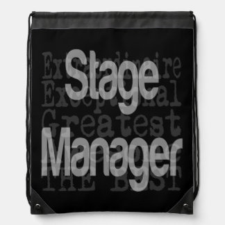 Stage Manager Extraordinaire Drawstring Bag