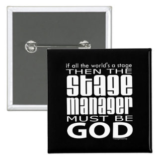 Stage Manager God 2 Inch Square Button