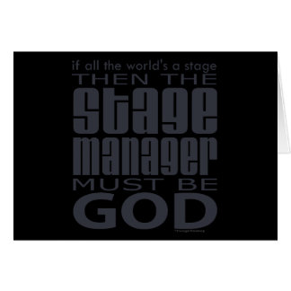 Stage Manager God Card