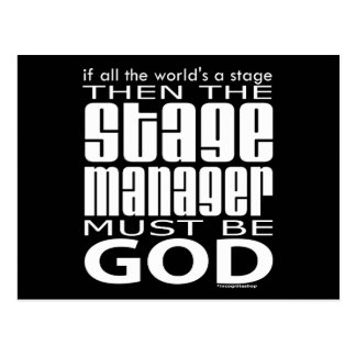 Stage Manager God Post Card