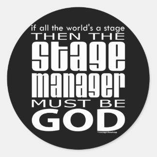 Stage Manager God Round Sticker