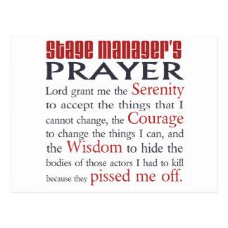Stage Manager s Prayer Postcard