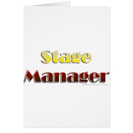 Stage Manager (Text Only) Greeting Card