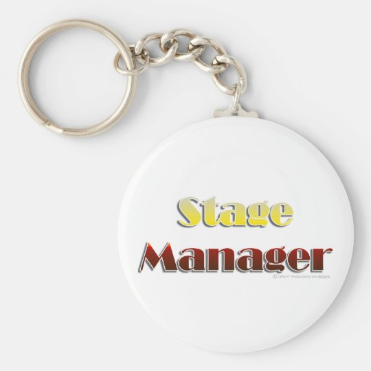 Stage Manager (Text Only) Keychain