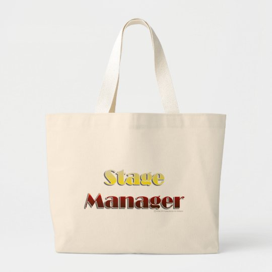 Stage Manager (Text Only) Large Tote Bag