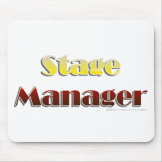 Stage Manager Text Only Mouse Mat