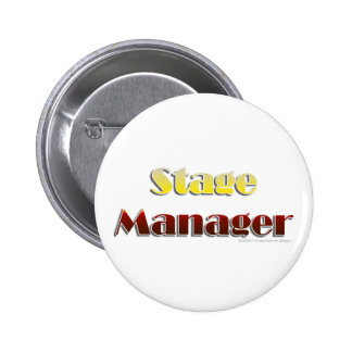 Stage Manager (Text Only) Pinback Button