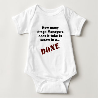 Stage Manager's Get Things DONE! Baby Bodysuit