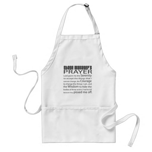 Stage Manager's Prayer Aprons