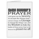 Stage Manager's Prayer Cards