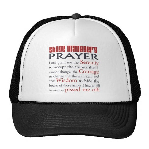 Stage Manager's Prayer Hats