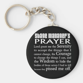Stage Manager's Prayer Keychain