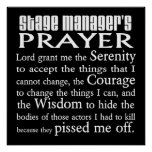 Stage Manager's Prayer Poster