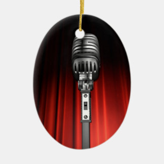 Stage Microphone Ceramic Ornament