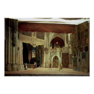 Stage model for the opera poster