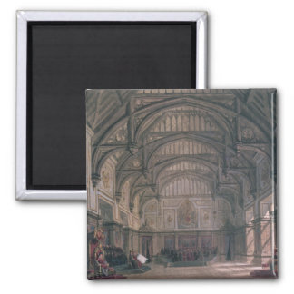 Stage set for Act III of the play 'Henry VIII' 2 Inch Square Magnet