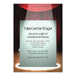 "Stage Spotlight 5"" x 7"" Invitation"