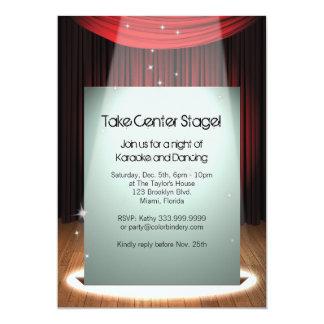 "Stage Spotlight 5"" x 7"" Invitation"