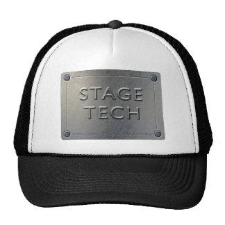 STAGE TECH Cap - Metal Plate Design. Trucker Hat