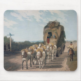 Stage Waggon, engraved by J. Baily Mouse Pad
