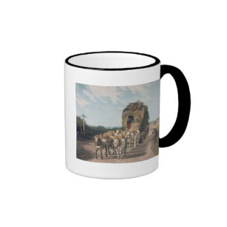 Stage Waggon, engraved by J. Baily Ringer Coffee Mug