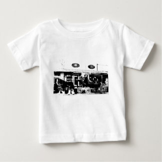 Stagecoach and Horses in Black and White Baby T-Shirt