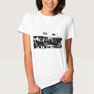Stagecoach and Horses in Black and White T-shirts
