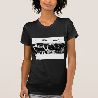 Stagecoach and Horses in Black and White T Shirts