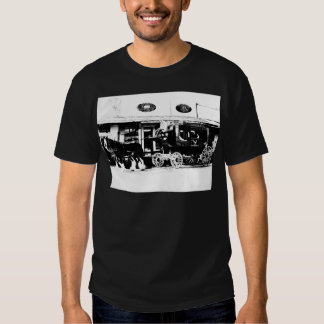 Stagecoach and Horses in Black and White Tshirt