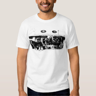 Stagecoach and Horses in Black and White Tshirts