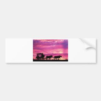 Stagecoach At Sunset Bumper Sticker