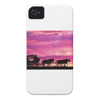 Stagecoach At Sunset iPhone 4 Case-Mate Case