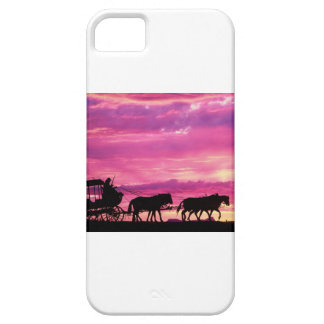 Stagecoach At Sunset iPhone SE/5/5s Case