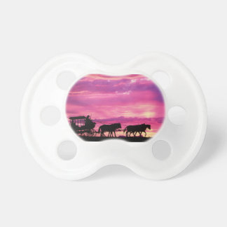 Stagecoach At Sunset Pacifier
