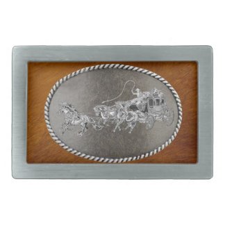 STAGECOACH CHROMED BELT BUCKLE