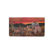 STAGECOACH COWBOYS CHECKBOOK COVER