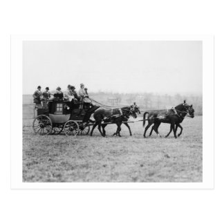 Stagecoach Cross Country Race Photograph Postcard