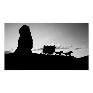 Stagecoach Print poster