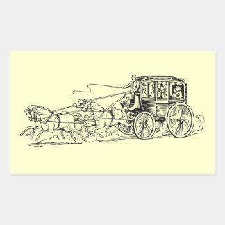 Stagecoach Rectangular Sticker